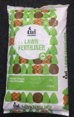 ~ Tui Lawn Fertiliser, 3kg bag