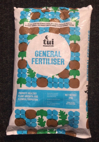 Tui General Garden Fertiliser, 3kg bag