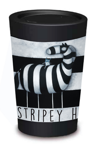 Stripey Horse Coffee Cup - 12oz