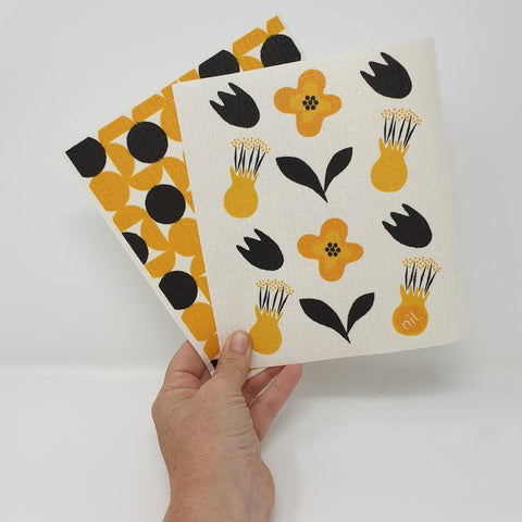 Eco Dishcloth - Kowhai Flowers