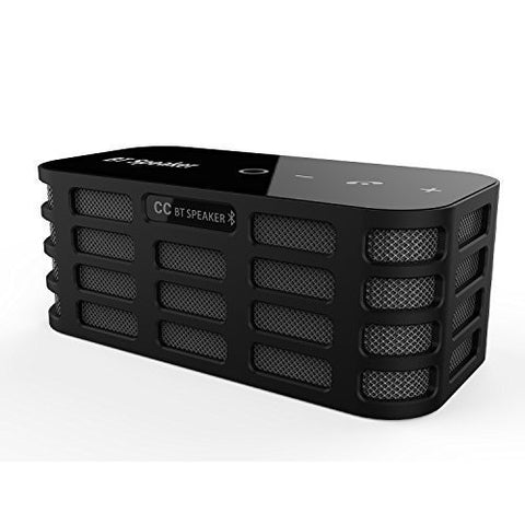 Superex® 6Watt Powerful Sound Dual-Channel Stereo Bluetooth Speakers with Bass Booster Touchpad Control Portable with TF Card Optional Support AUX Line-in - Black