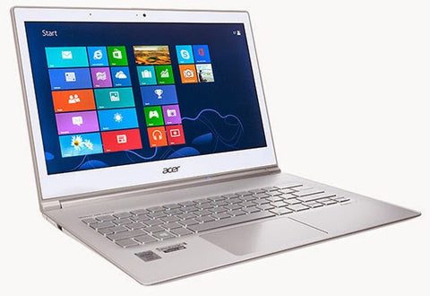Acer Aspire S7-392-9890 13.3-Inch Touchscreen Ultrabook (1.8 GHz Intel Core i7-4500U Processor, 8GB DDR3L, 256GB SSD, Windows 8) Crystal White