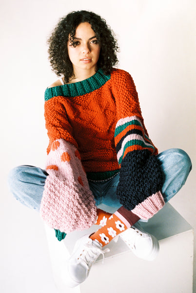 Bell-Sleeve Wool Jumper