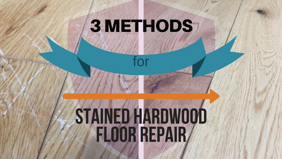 Stained Hardwood Floor Gouge Repair Method and it's Cost