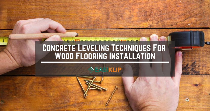 Wood Floor And Subfloor Leveling Compound Technique