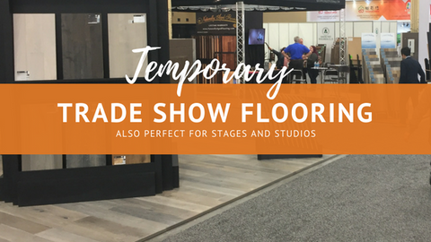 Temporary Trade Show Flooring Also Perfect for Stages and Studios
