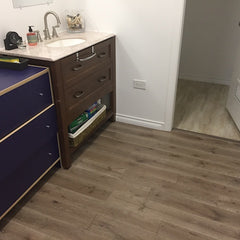 bathroom flooring idea options, wood floor bathroom
