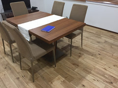 natural oak flooring ideas, click lock solid hardwood floor for dining room
