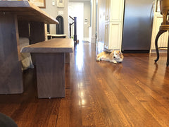 hardwood floors in kitchen, kitchen flooring options, white oak flooring