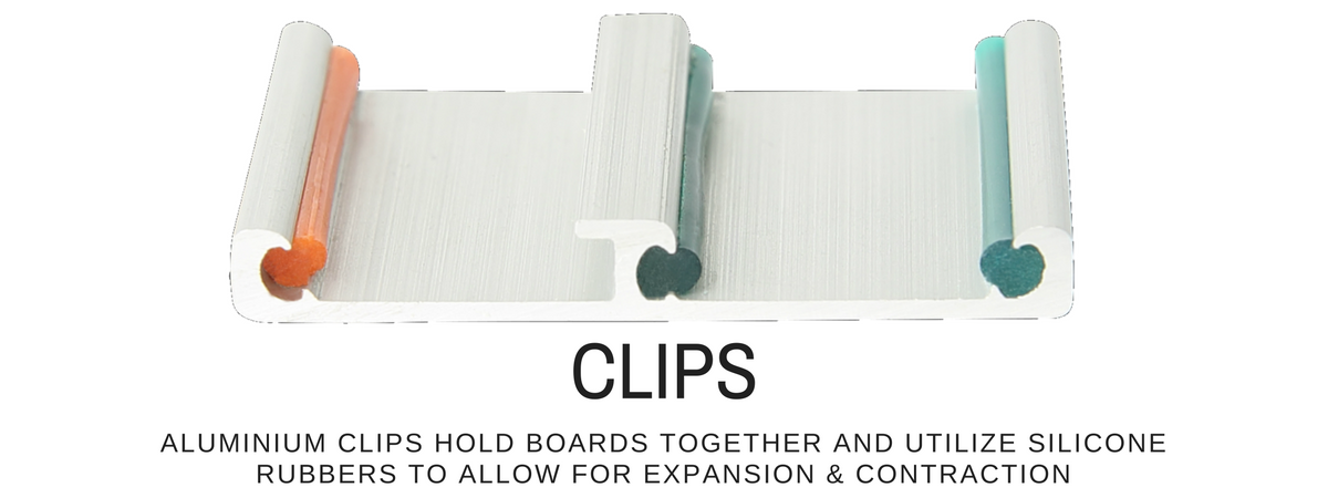 Aluminum clip design for easiklip solid hardwood floating flooring