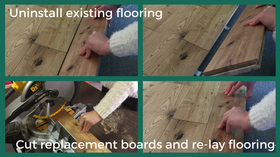 How to repair a hardwood floor by Easiklip