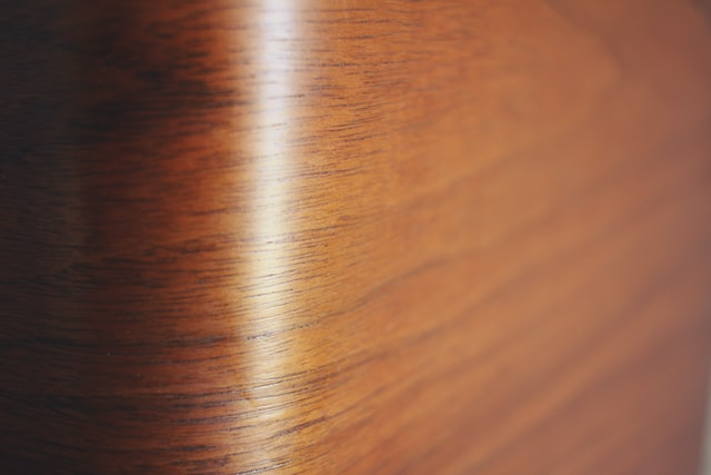 High-gloss hardwood floors that should be protected during a move.