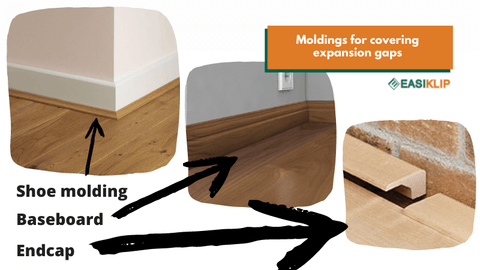 Molding for covering expansion gaps