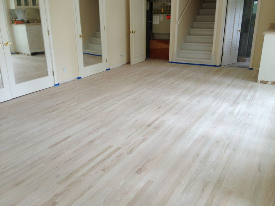 White Washed or Bleached Wood Floors