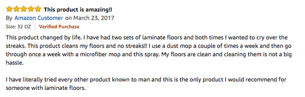review black diamond wood floor cleaner spray