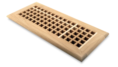 egg crate style wood vent cover