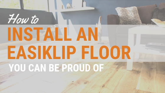 How to install hardwood flooring by easiklip DIY easiest hardwood to install
