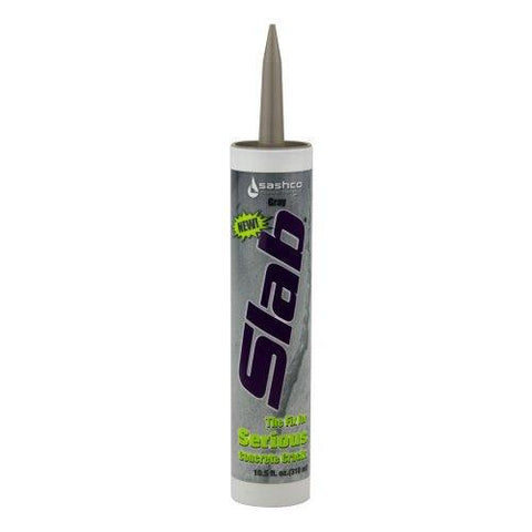 Sashco 16210 Slab Concrete Crack Repair Sealant, 10.5 oz Cartridge, Gray (Pack of 1)