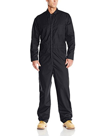 Red Kap Men's Twill Action Back Coverall, Black, 46