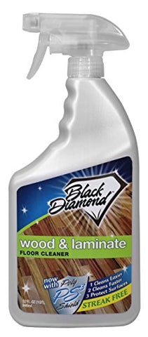 Black Diamond Wood & Laminate Floor Cleaner, For Hardwood, Real, Natural & Engineered Flooring, Biodegradable Safe for Cleaning All Floors, 32 Oz