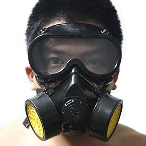 Vktech Industrial Gas Chemical Anti-Dust Respirator Mask Goggles Set (Style A)