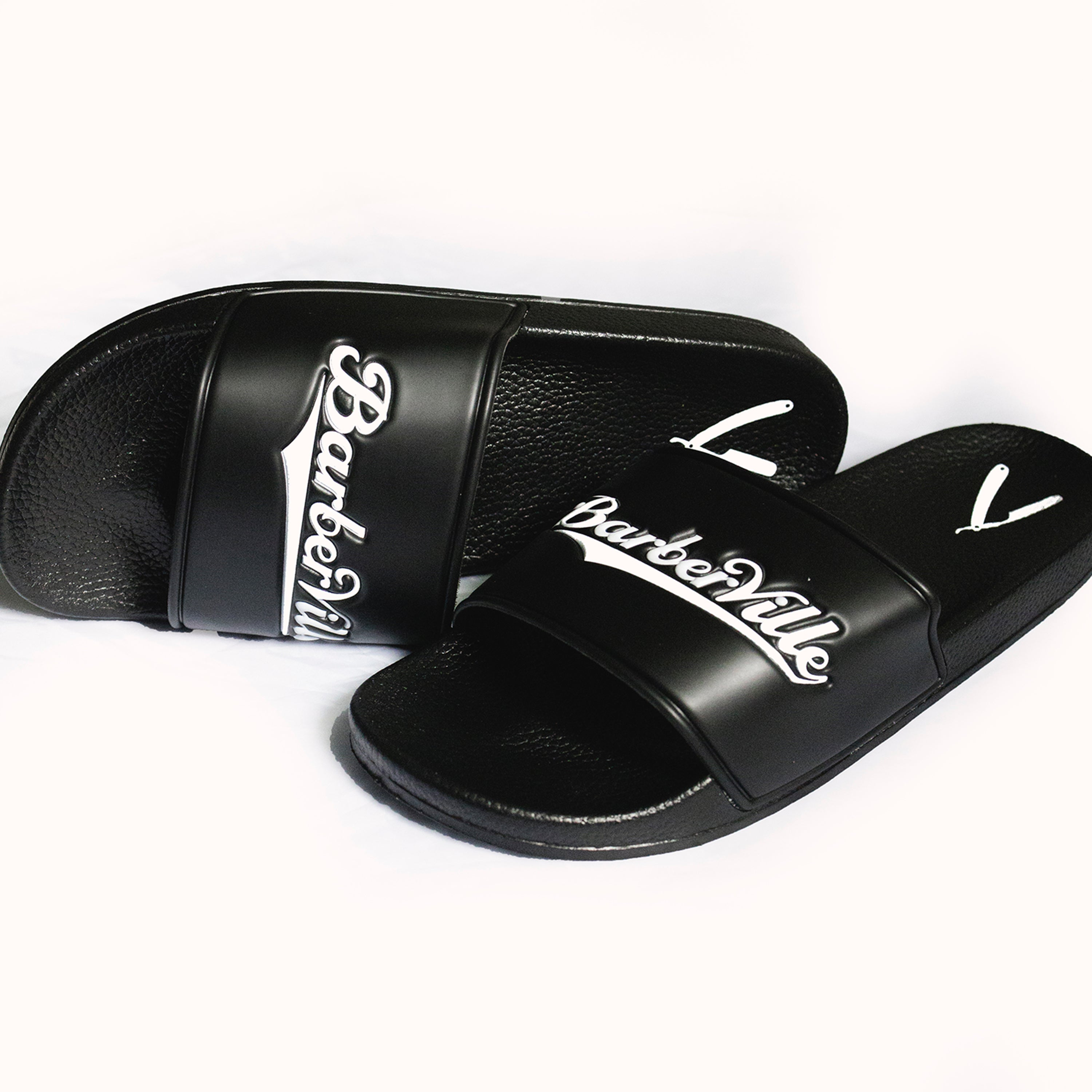 Premium BarberVille Slides (Black)