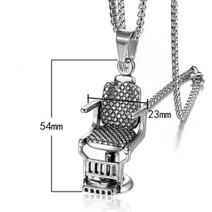 O.G. Barber Chair Pendant w/ Necklace