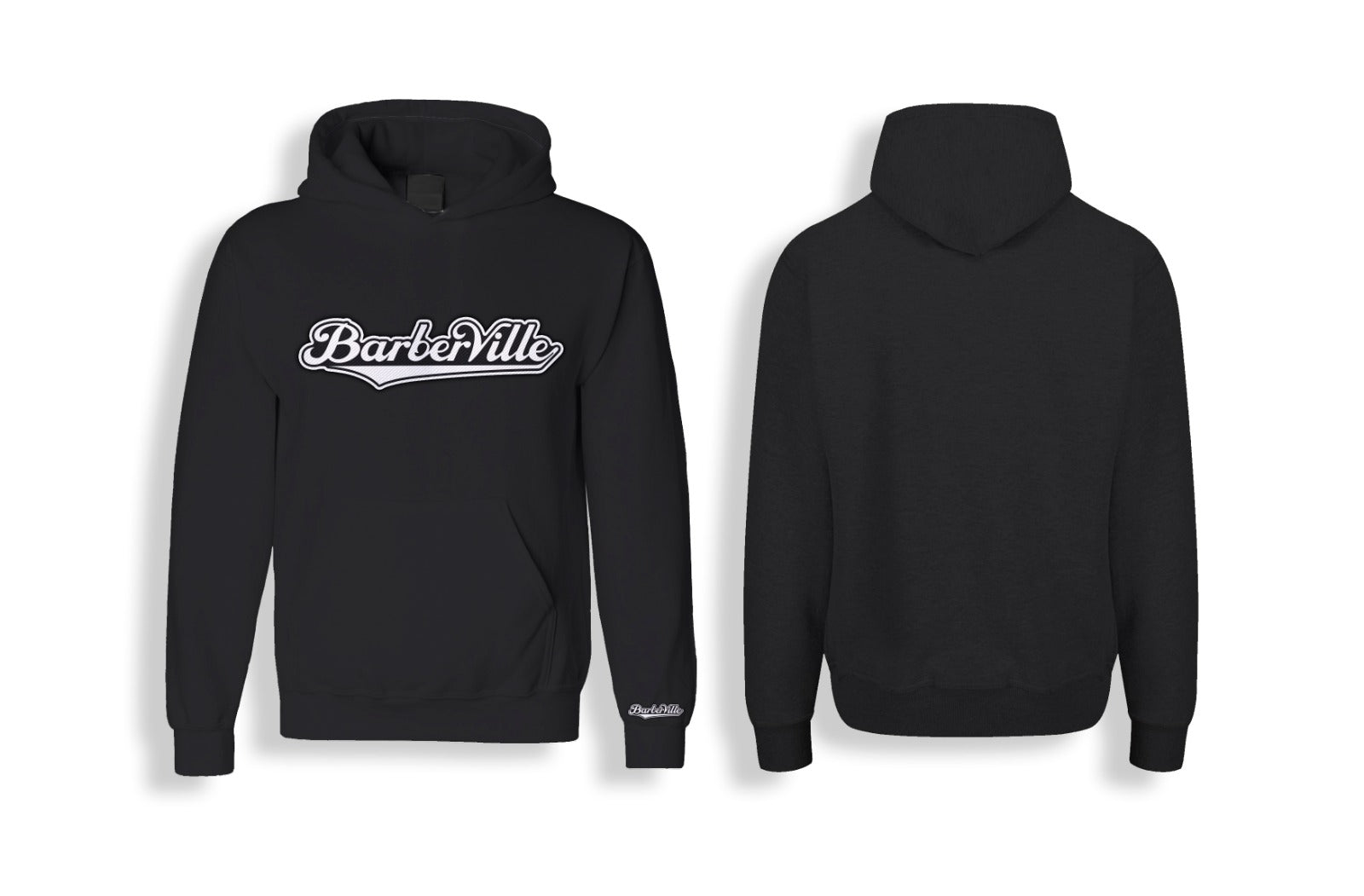 BarberVille Logo Hoodie (Embroidered)