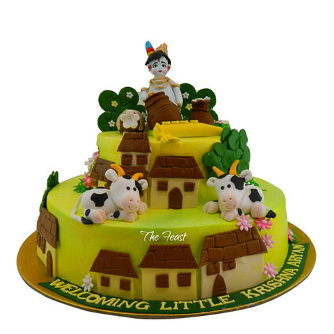 Lord Krishna Cake - The Feast Bakery, Jaipur