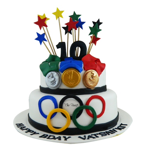 Olympics Cake - The Feast Bakery, Jaipur