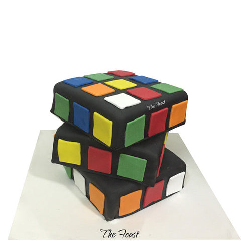 Rubik's Cube Cake - The Feast Bakery, Jaipur