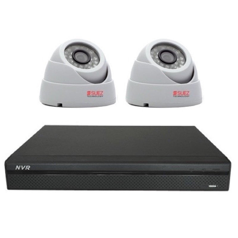 ST-PRO208400-P  Professional Series  8CH 8POE Network Video Recorder NVR - 2x 4MP Waterproof Nightvision Network Cameras + 2 TB HDD Dahua Compatible System - SUEZ TECHNOLOGY PTY LTD – Security and electronic solutions
