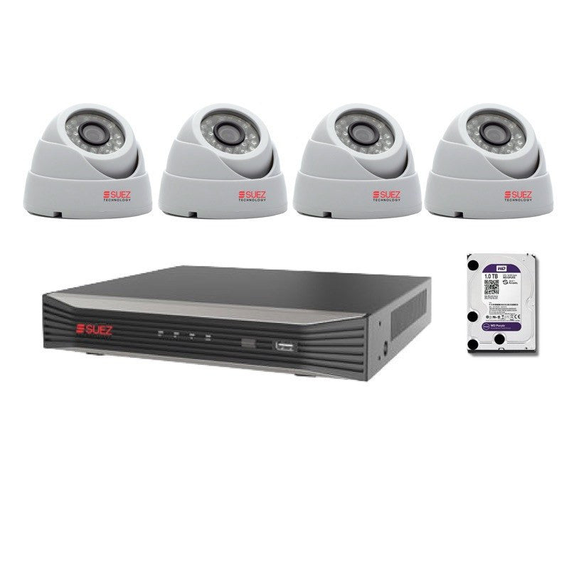 ST-KP408300-P 8-Channel 4 Megapixels Network Video Recorder with  4x IP HD 3 Megapixels Security Cameras - SUEZ TECHNOLOGY PTY LTD – Security and electronic solutions