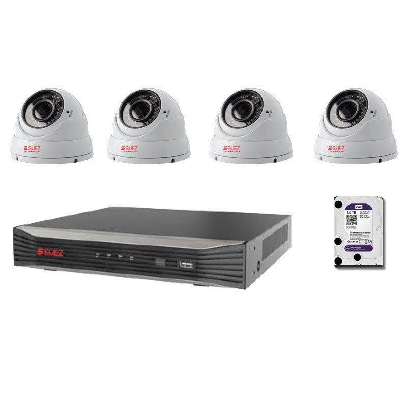 ST-KP408400V-P 8Ch 4K 8POE H.265 6 MP Network Video Recorder + 4x Varifocal IP 4 MP Security Cameras - SUEZ TECHNOLOGY PTY LTD – Security and electronic solutions
