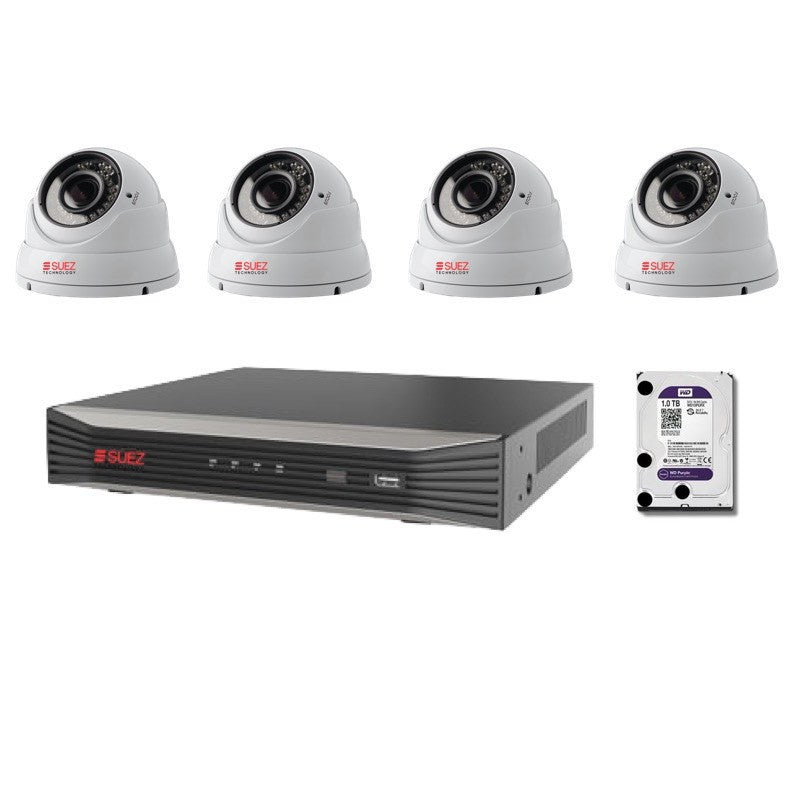 ST-KP808400V-P 8CH 4K H.265 8POE  Network Video Recorder with  8x Varifocal IP HD 4 Megapixels Security Cameras - SUEZ TECHNOLOGY PTY LTD – Security and electronic solutions