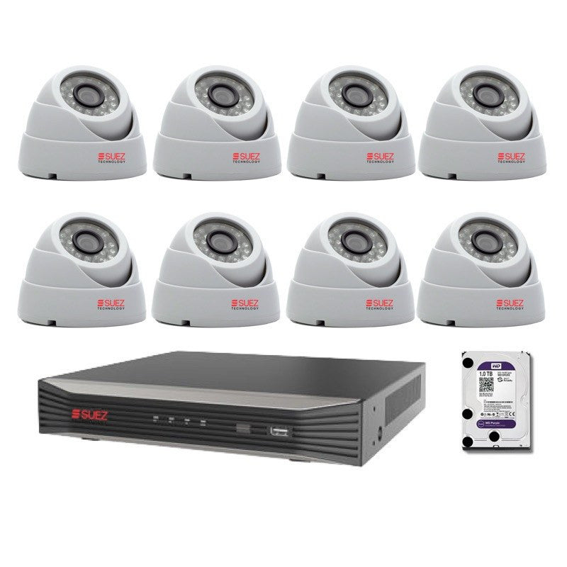 ST-KP808300-P 8Ch 4K 8POE H.265  Network Video Recorder + 8x 3 MP Security Cameras - SUEZ TECHNOLOGY PTY LTD – Security and electronic solutions