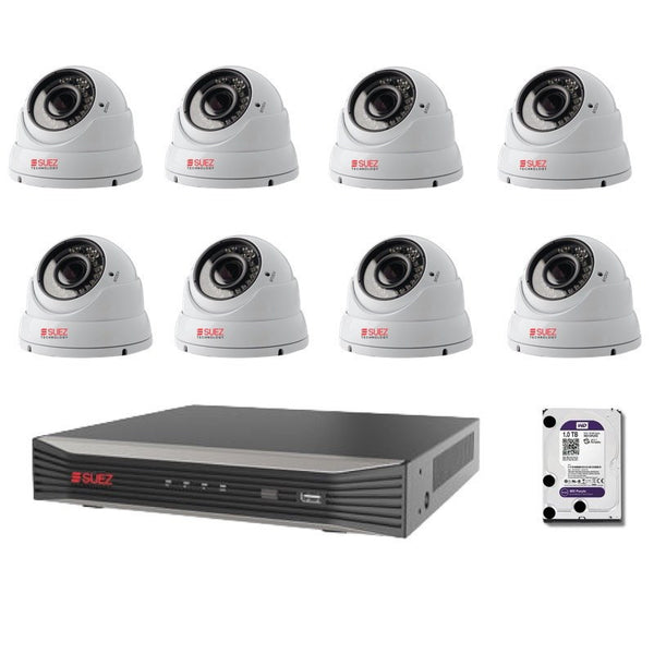 ST-KP808300V-P 8-Channel 4K 8POE H.265 Network Video Recorder with  8x Varifocal IP HD 3 Megapixels Security Cameras - SUEZ TECHNOLOGY PTY LTD – Security and electronic solutions