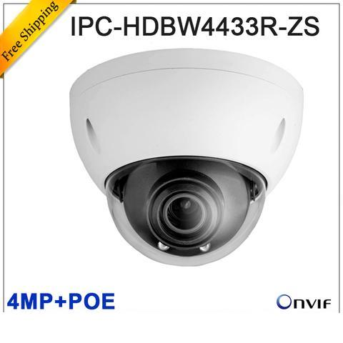 Original dahua 4MP IPC-HDBW4433R-ZS IP 2.8mm ~12mm varifocal motorized lens camera POE