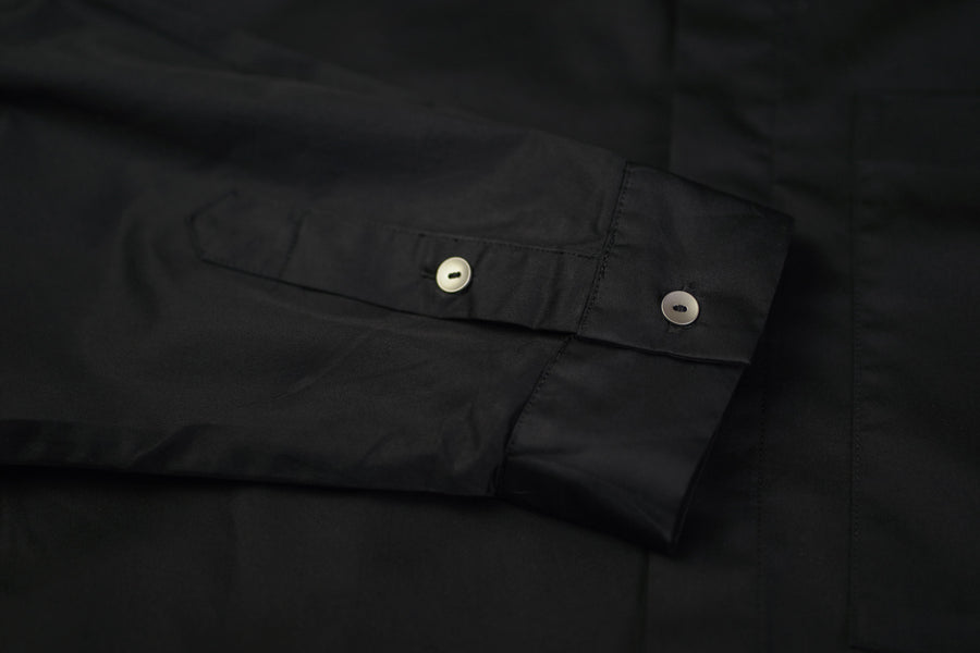 Knot Button Shirt | Black
