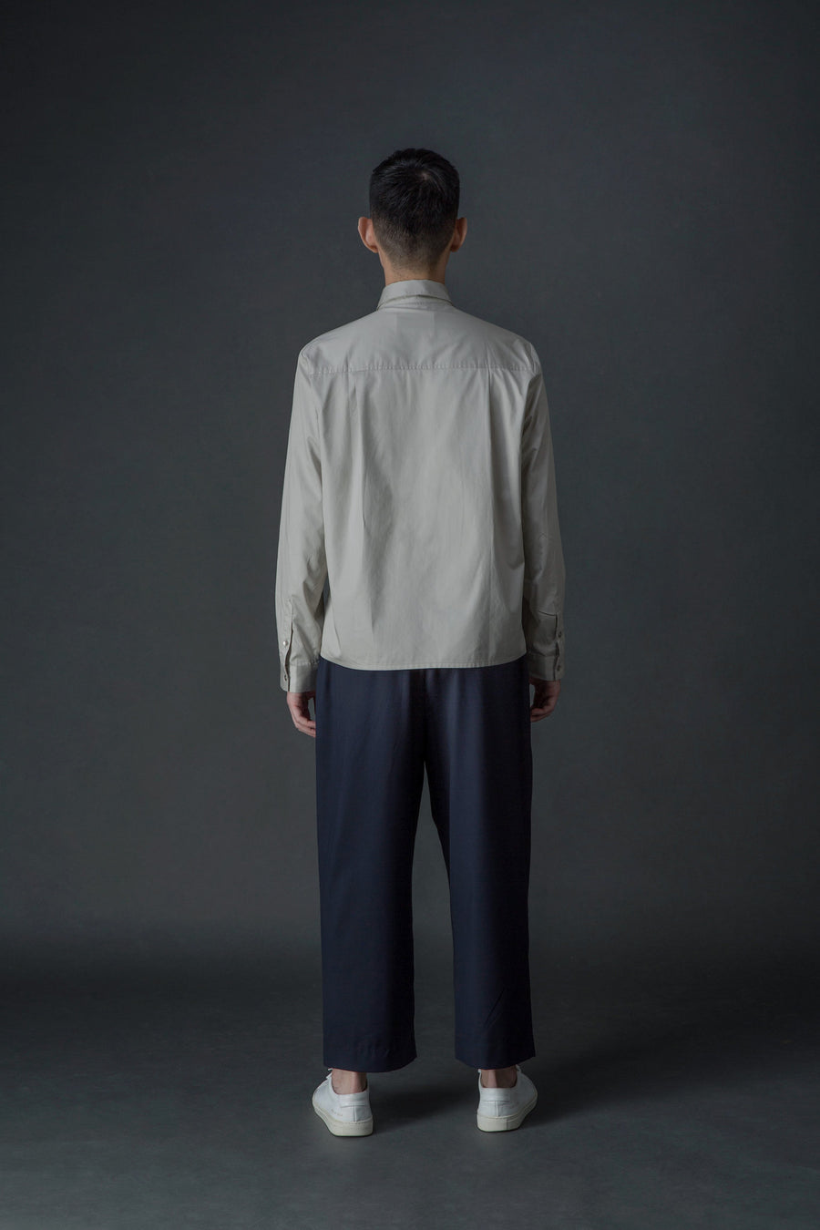 Knot Button Shirt | Stone Gray