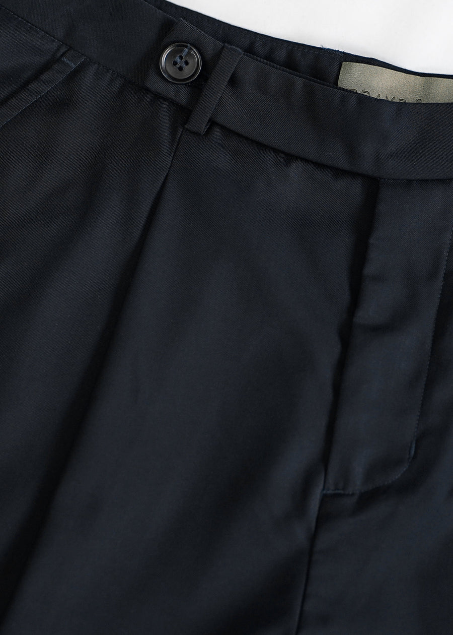 Soft Tailored Pants | Navy Blue