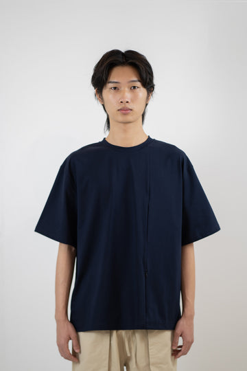 Line Pocket Tee - Midnight Blue