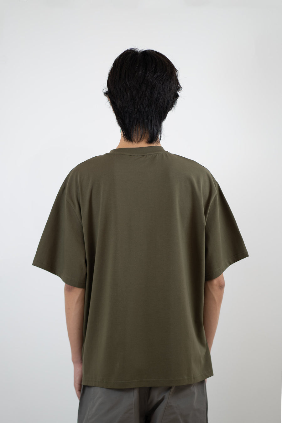 Line Pocket Tee - Olive Green