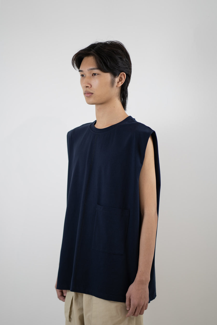 Sleeveless Tee - Midnight Blue