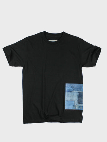 GRAYE | Black BoroBoro Cotton T-Shirt