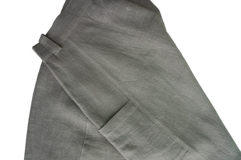 GRAYE | Dusky Grey Panelled Linen Pants