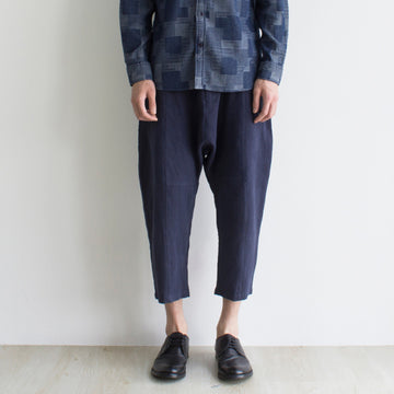 GRAYE | Blue Panelled Linen Pants