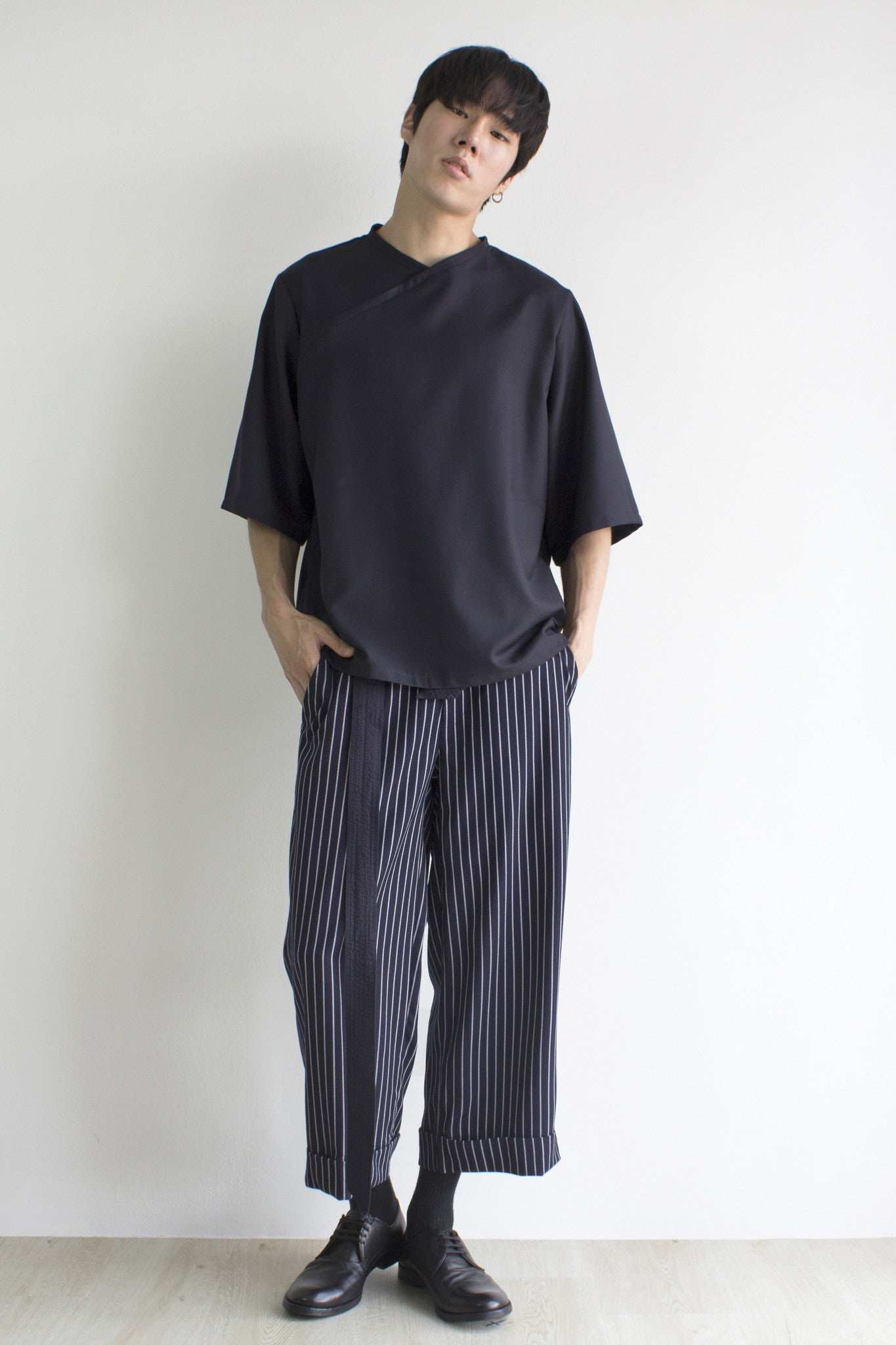 GRAYE | Dark Blue Stripe Culottes