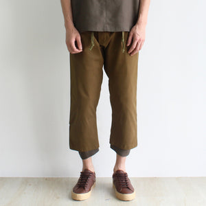 GRAYE | Olive Amber Double Hem Trousers