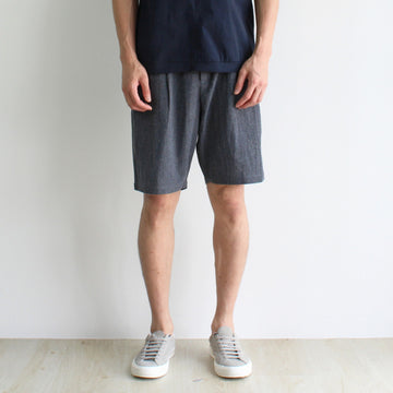 GRAYE | Melange Grey Linen Shorts